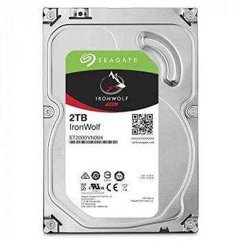 Seagate ST2000VN004 IronWolf 2TB, internal harddisk 8,9 cm (3,5 inch), 64 MB Cache, 5900 RPM, SATA 6 Gb/s
