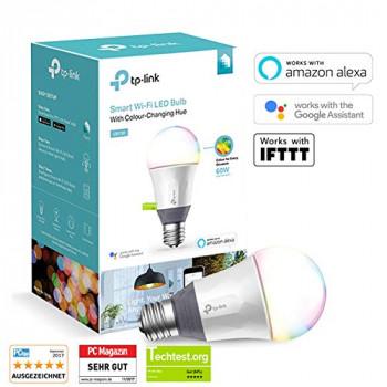 TP-LINK A + E27 Intelligent Tunable WiFi LED Light Bulb, Plastic, E27, Plastic, Purple, E27, 11 wattsW