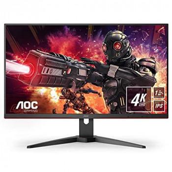 AOC Gaming U28G2AE - 28 Inch 4K UHD Monitor, 60Hz, 1ms, IPS, AMD FreeSync, Speakers, Game Modes (3840 x 2160, 300 cd/m², HDMI 2.0/DP1.2)