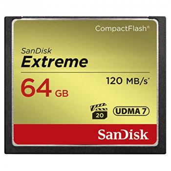 SanDisk Extreme 64 GB UDMA7 CompactFlash Card - Black/Gold
