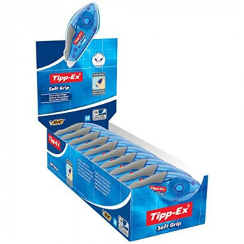 Tipp-Ex Soft Grip Correction Tape Roller 5mmx10m Ref 895933 [Pack 10]