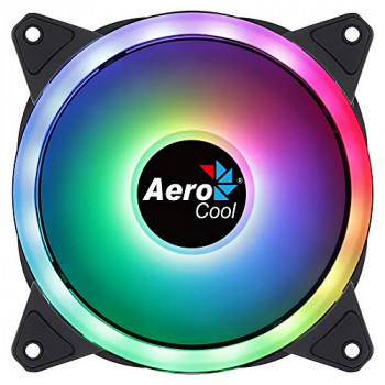 Aerocool Duo 12 ARGB LED PC Fan, 120 mm, 1000 rpm, Curved Fan Blades for Maximum Cooling and Anti-Vibration Pads