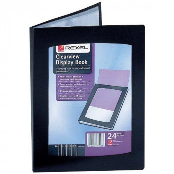 Rexel A5 Clearview Display Book - Black