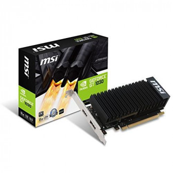 MSI NVIDIA GeForce GT 1030 2GH LP OC 2Gb GDDR5 64 Bit Memory PCI Express Graphics Card - Black