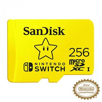 SanDisk SDSQXAO-256G-GNCZN microSDXC UHS-I Card for Nintendo Switch, 256 GB, Nintendo Licensed Product