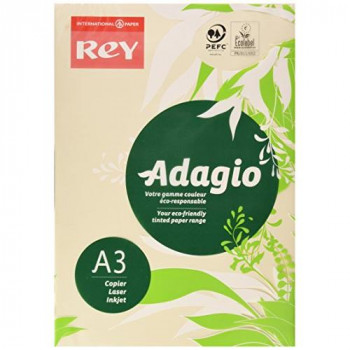 Adagio ADAGI080X667 A3 80 GSM Rey Paper - Ivory (Pack of 500 Sheets)