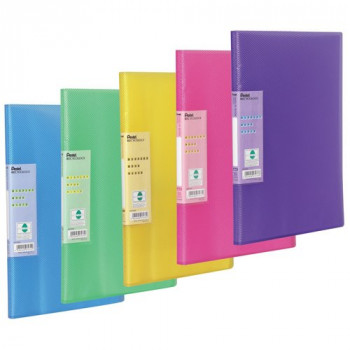 Pentel Display Book Vivid, 30 pockets, A4 size , Pack of 5 assorted coloured folders
