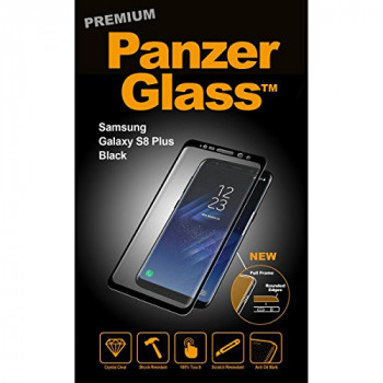 PanzerGlass PREMIUM for Samsung Galaxy S8+, black - suitable for GALAXY S8+ G955F