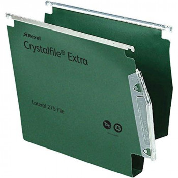 Rexel Crystalfile Extra 275 Lateral Files 30 mm 300 Sheet Capacity Green (25 Pack)