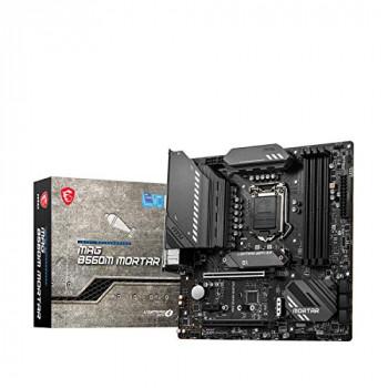 MSI MAG B560M MORTAR Micro-ATX Gaming Motherboard (10 th/11th Gen Intel Core, LGA 1200 Socket, DDR4, 5066+ MHz, 2 x M.2 Slots, USB 3.2 Gen 2, Type-C, 2.5G LAN, DP/HDMI)