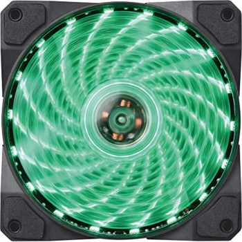 Marvo FN10GN Case Fan 120 mm for PC LED Green Anti-Vibration Low Noise