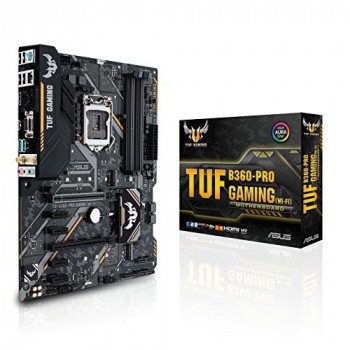 Asus TUF B360-PRO GAMING (WI-FI) Intel B360 1151 ATX DDR4 VGA HDMI XFire Wi-Fi Dual M.2 RGB Lighting