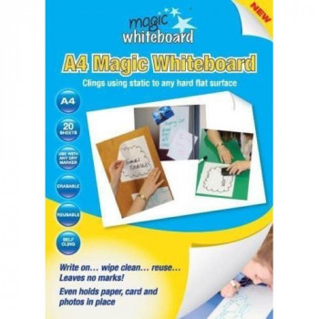Magic Whiteboard MW1220 A4 Whiteboard Sheets - White