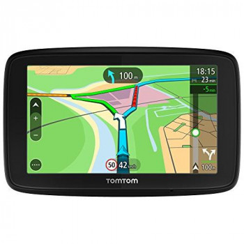 "TomTom VIA 53 5"" Sat Nav with Lifetime European map updates via WI-FI, Lifetime TomTom Traffic, hands-free calling & voice control."