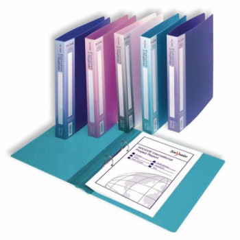 Snopake 2 Ring 25mm A4 Executive Ring Binder Pack of 10 Pieces - Assorted Electra Colours