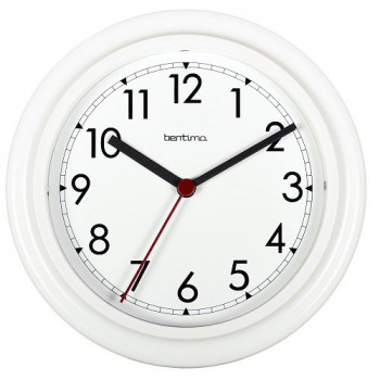 Bentima 21242 23 cm Stratford Wall Clock, White