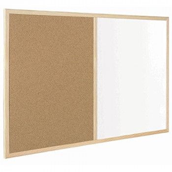 Bi-Office Budget Wood Frame Combo Board 60x40cm