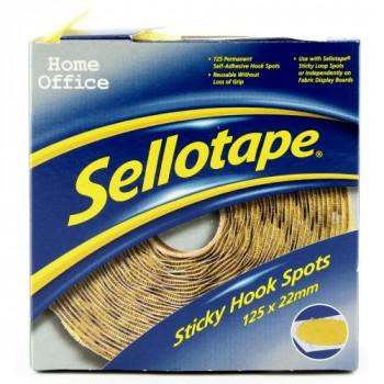 Sellotape 1445185 Sticky Hook Spots