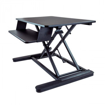 "StarTech.com Sit Stand Desk Converter - Large 35in Work Surface - Adjustable Stand up Desk for Two Monitors up to 24"" or One 30"""