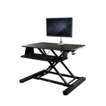 "StarTech.com Sit-Stand Desk Converter with Monitor Arm - Height Adjustable Standing Desk Solution - Arm for up to 30"" Monitor"