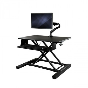 "StarTech.com Sit-Stand Desk Converter w/ Monitor Arm - Height Adjustable Standing Desk Solution - Articulating Arm for up to 26"" Monitor"