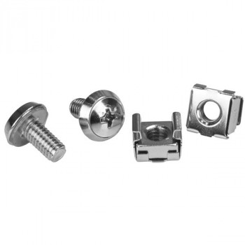 StarTech.com Rack Screws - 20 Pack - Installation Tool - 12 mm M6 Screws - M6 Nuts - Cabinet Mounting Screws and Cage Nuts