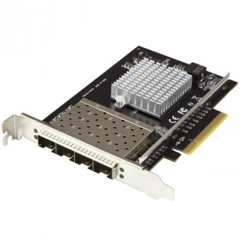 StarTech.com Quad Port SFP+ Server Network Card - PCIe Network Card - Intel XL710 Chip - 10Gb Ethernet Card - 4 Port NIC Card