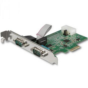 StarTech.com 2 Port RS232 Serial Adapter Card w/ 16950 UART - PCI Express Serial Port Card - 921.4Kbps - Windows & Linux