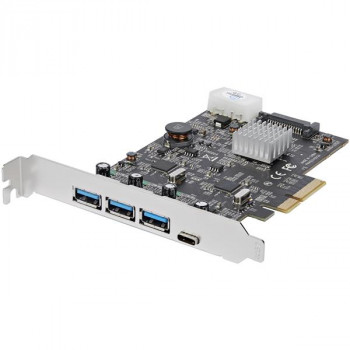 StarTech.com 4 Port USB 3.1 PCIe Card - 3x USB-A and 1x USB-C - 2x 10Gbps Channels - USB C PCIe Card - USB 3.1 Type C PCIe Card