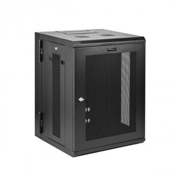 StarTech.com Wall Mount Server Rack Cabinet - Hinged Enclosure - Wall Mount Network Cabinet - 16.1 in. Deep - 15U