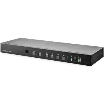 StarTech.com 4x4 HDMI Matrix Switch with Audio and Ethernet Control - 4K 60Hz - HDMI Switcher Box for Video Wall - w/Rack Mount