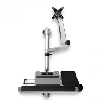 StarTech.com Wall Mounted Computer Workstation - Articulating Monitor Arm - Extendable Keyboard Arm - Height Adjustable