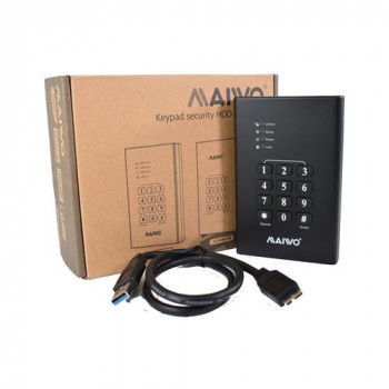 "Maiwo USB3.0 2.5"" Keypad Encrypted Hard Drive Enclosure - Black"