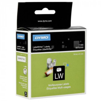 Dymo 11355 Multipurpose Label - 19 mm Width x 51 mm Length - 1 Roll