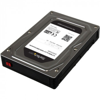 "StarTech.com 2.5"" to 3.5"" SATA Aluminum Hard Drive Adapter Enclosure with SSD/HDD Height up to 12.5mm"