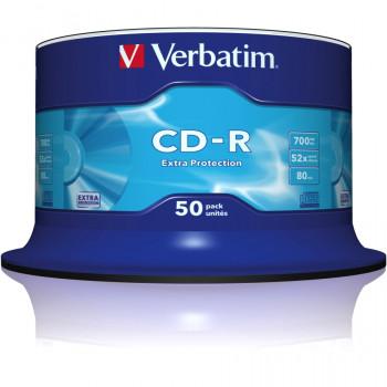 Verbatim 43351 CD Recordable Media - CD-R - 52x - 700 MB - 50 Pack Spindle