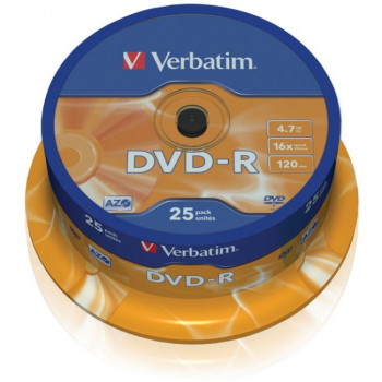 Verbatim 43522 DVD Recordable Media - DVD-R - 16x - 4.70 GB - 25 Pack Spindle