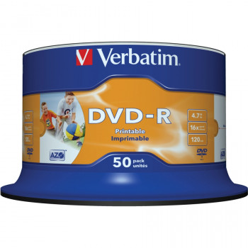 Verbatim 43533 DVD Recordable Media - DVD-R - 16x - 4.70 GB - 50 Pack Spindle