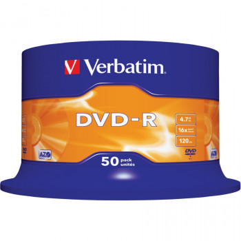 Verbatim 43548 DVD Recordable Media - DVD-R - 16x - 4.70 GB - 50 Pack Spindle