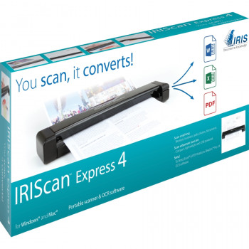 I.R.I.S. IRIScan Express 4 Sheetfed Scanner - 1200 dpi Optical