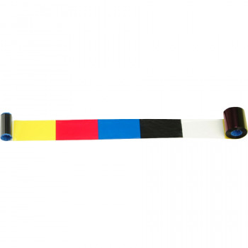 Zebra 800015-140 Ribbon Cartridge - Black, Cyan, Magenta, Yellow, Clear
