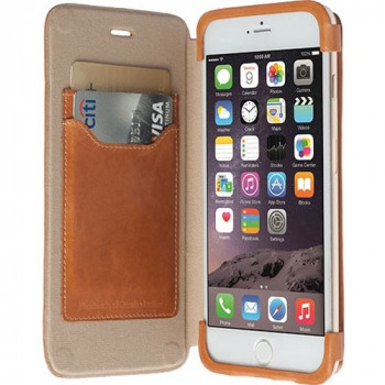 Krusell Kiruna Carrying Case (Flip) for iPhone, Credit Card - Camel