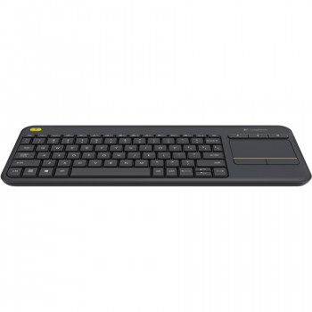 Logitech K400 Plus Keyboard - Wireless Connectivity - RF - Black