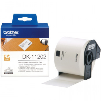 Brother DK11202 Shipping Label - 62 mm Width x 100 mm Length - 1 / Box