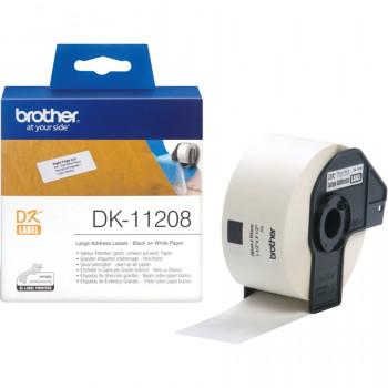 Brother DK11208 Address Label - 38 mm Width x 90 mm Length - 400 Label