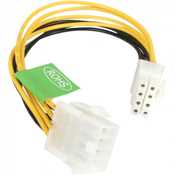 StarTech.com 8in EPS 8 Pin Power Extension Cable