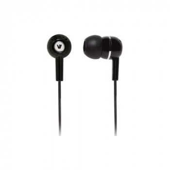 V7 HA110-BLK-12EB Wired Stereo Earset - Earbud - In-ear - Black