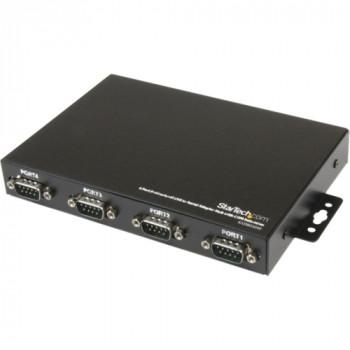 StarTech.com 4 Port Wall Mountable USB to Serial Adapter Hub with COM Retention