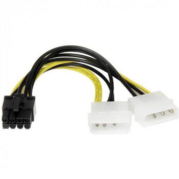 StarTech.com 6in LP4 to 8 Pin PCI Express Video Card Power Cable Adapter