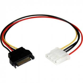 StarTech.com 12in SATA to Molex LP4 Power Cable Adapter - F/M